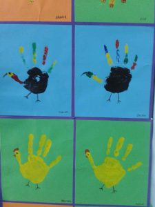 handprint turkey craft idea for kids