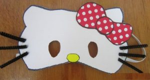hello kitty mask craft idea