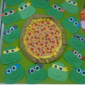ninja turtle bulletin board idea