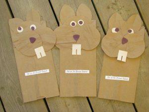 paper bag squirrel craft