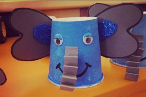 paper cup elephant craft