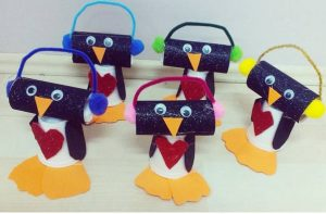 paper cup penguin craft