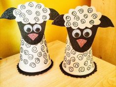 paper cup sheep craft
