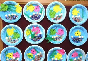 paper plate aquarium craft idea