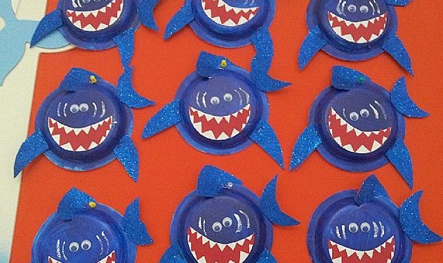 Shark craft idea for kids Crafts