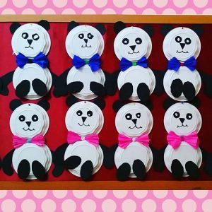 paper plate panda craft