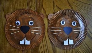 paper plate squirrel craft