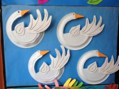 paper plate swan craft idea