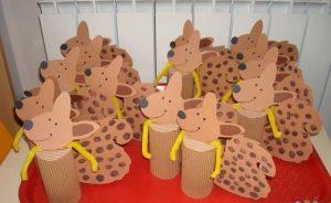 paper roll squirrel craft