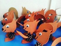 pine cone squirrel craft idea