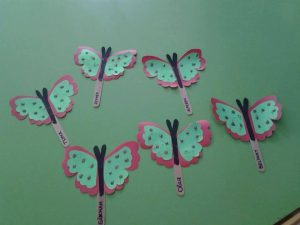 popsicle stick butterfly craft idea
