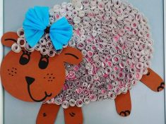 quilling sheep bulletin board idea  (2)