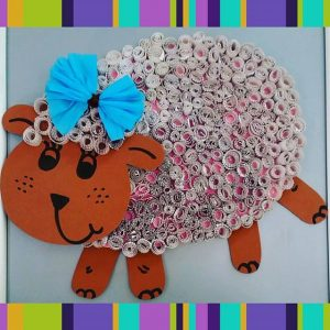 quilling sheep bulletin board idea  (2)