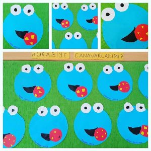 sesame street characters craft idea