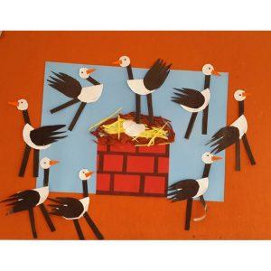 stork bulletin board idea