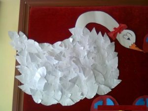 swan craft idea for kids