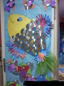 cd fish bulletin board idea