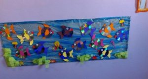 cd fish bulletin board idea for kids