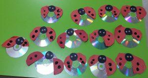 cd ladybug craft