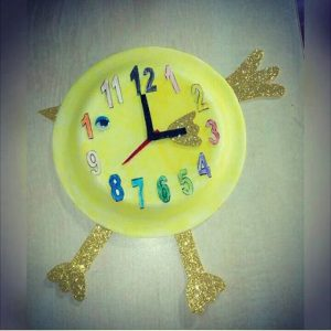 chick clock craft