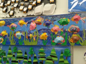 cone shaped fish bulletin board
