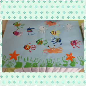 handprint sea animals bulletin board
