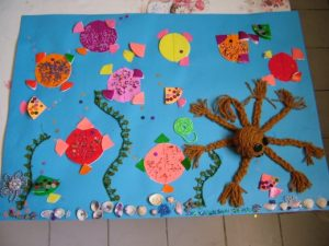 ocean animals bulletin board idea