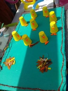 paper cup chick craft