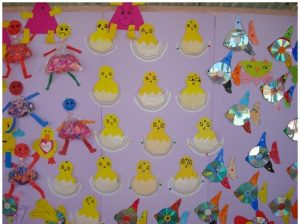 paper plate chick craft idea