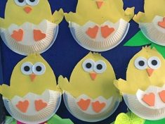 paper plate chick craft idea for preschoolers (1)