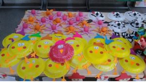 paper plate chick craft idea for preschoolers (2)