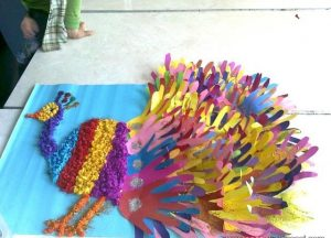 peacock craft idea for kids