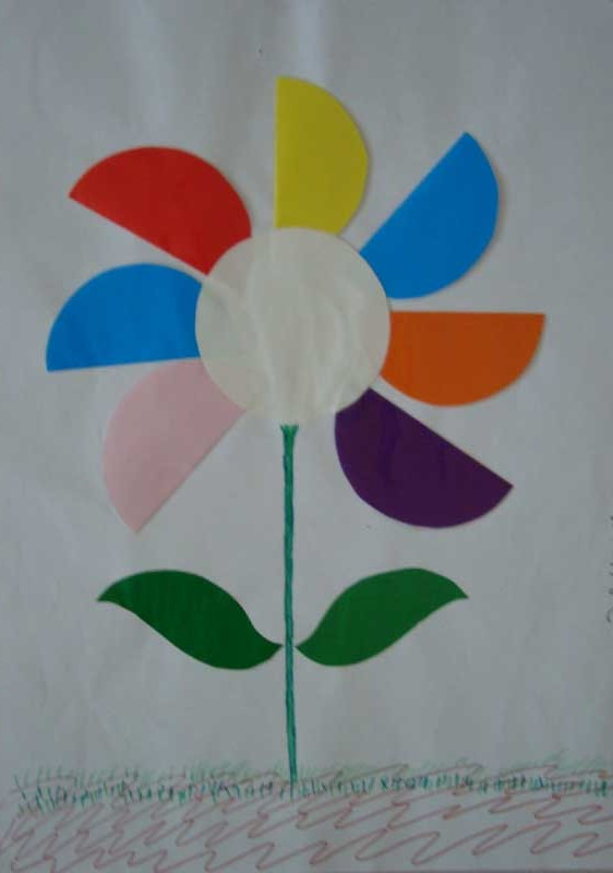 circle flower craft