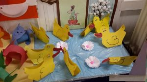 duck bulletin board idea for preschoolers