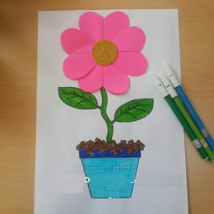 flower craft idea for spring