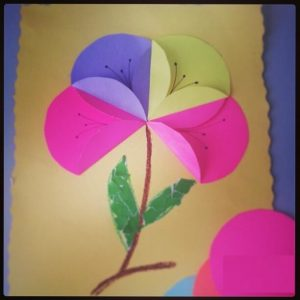 free flower craft idea for kids