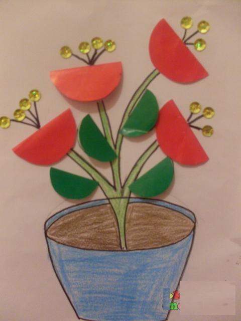 free flower craft idea