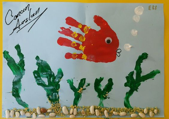 Handprint Fish Craft Crafts And Worksheets For Preschool