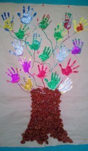 handprint tree craft idea for kids