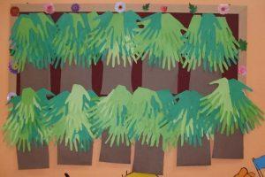 handprint tree craft idea for preschooler
