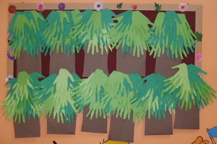 handprint tree craft idea for preschooler