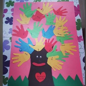 handprint tree craft idea for preschoolers