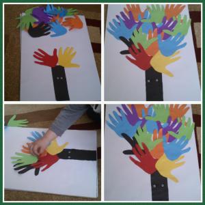 handprint tree crafts