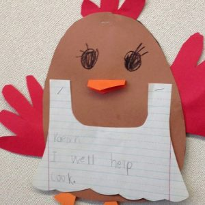 hen craft idea for preschoolers