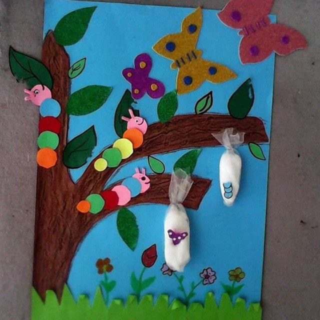 Life Of Cycle Butterfly Craft 2 on Musical Instruments Craft Idea For Kids