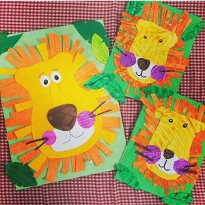 lion craft idea for kids