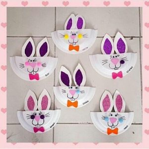 paper plate bunny craft idea