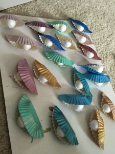 paper plate pearl craft