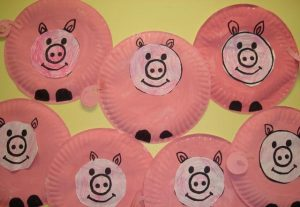 paper plate pig craft idea