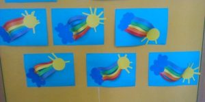 rainbow craft idea for preschoolers
